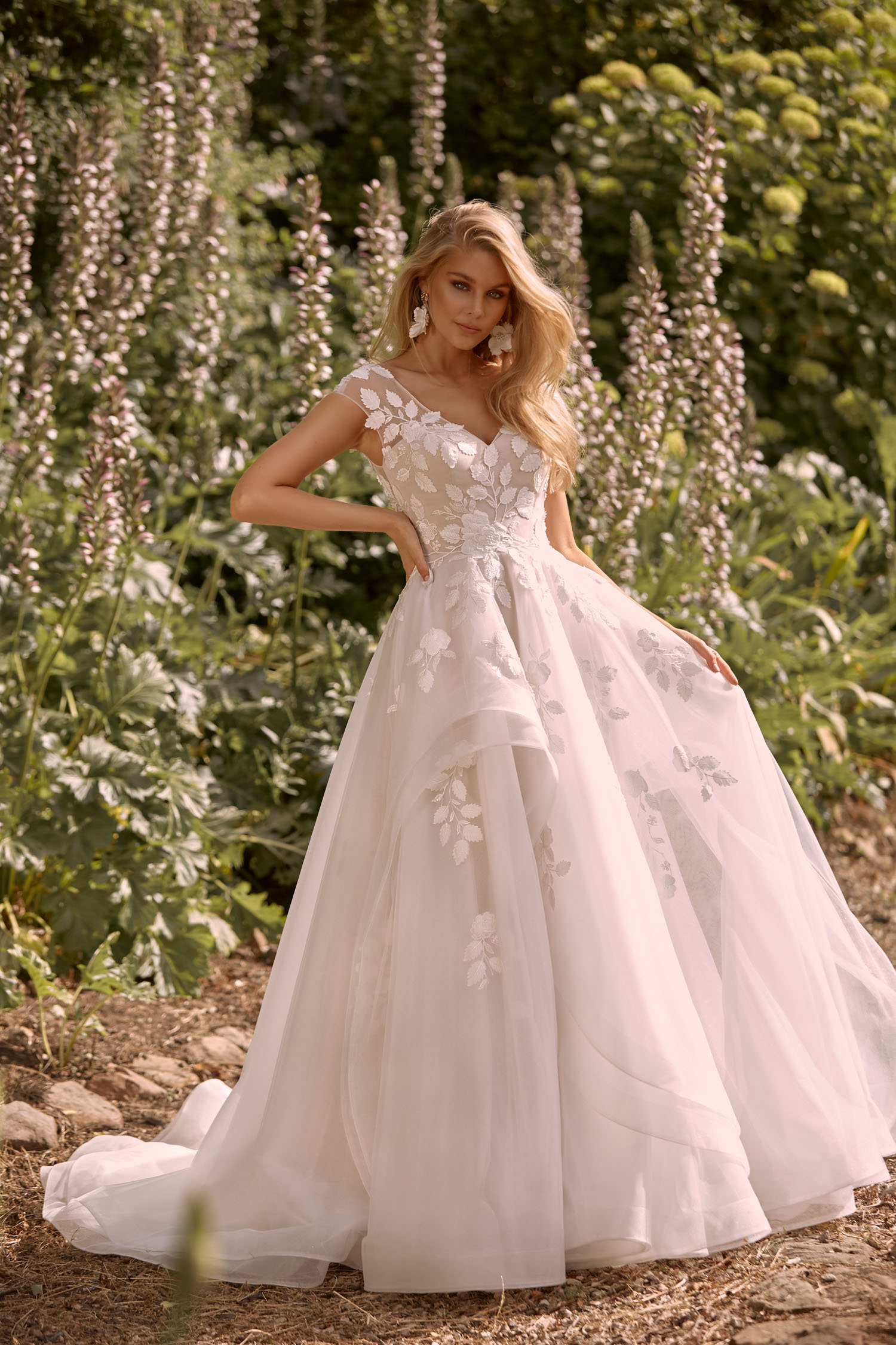 Cassia Front- Feature overskirt can be full length
