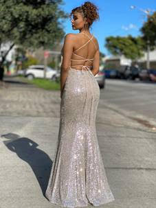 Silver nude back
